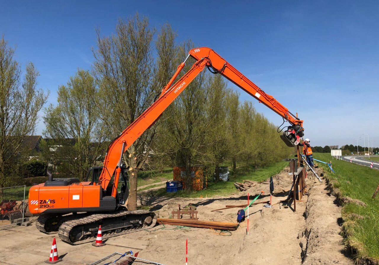 Project 2020 houten damwand constructie N57 Ouddorp